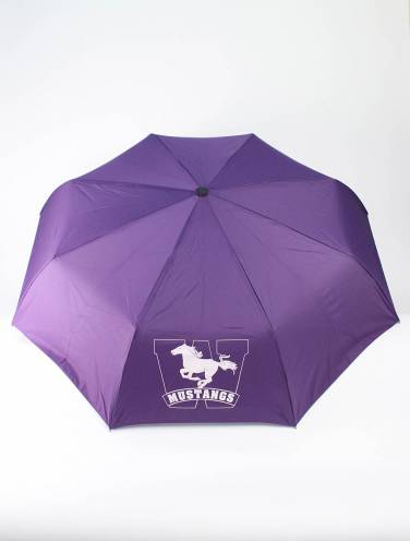 image of Purple Mustangs Telescopic Umbrella