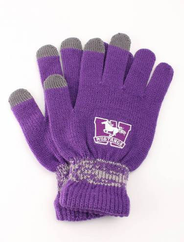 image of Purple Mustangs Mens Gloves
