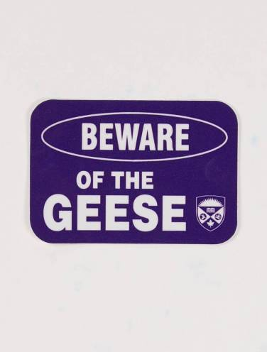 image of Beware Of Geese Sticker