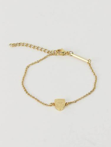 image of Mini Crest Gold Bracelet