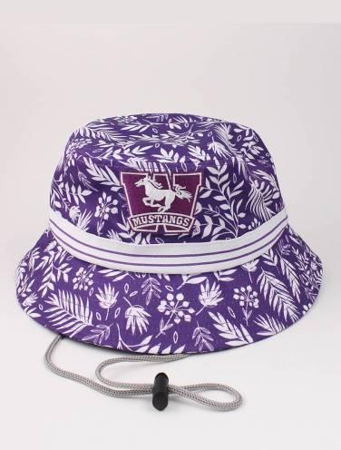 image of Purple Tropical Mustangs Bucket Hat