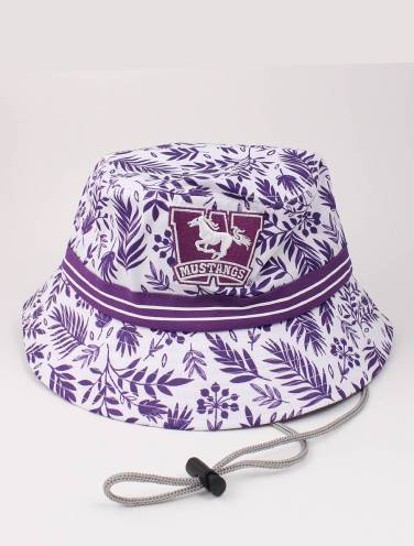 image of White Tropical Mustangs Bucket Hat