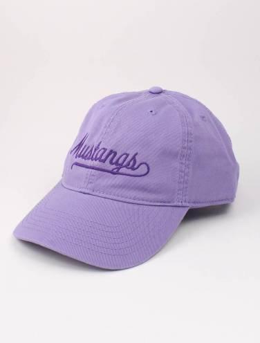 image of Lavender Mustangs Script Hat