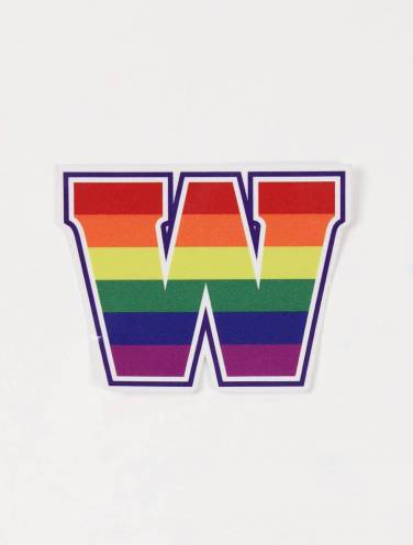 image of W Rainbow Sticker