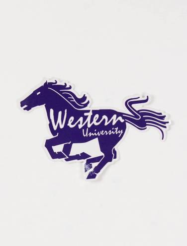 image of Mustang Silhouette Sticker
