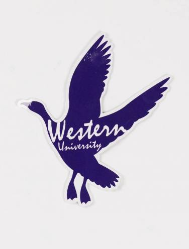 image of Western Goose Silhouette Sticker