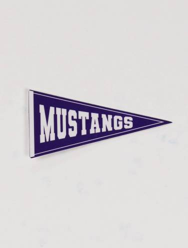 image of Mustangs Pennant Sticker