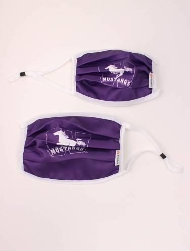 image of Purple Mustangs Reusable Polygiene Mask