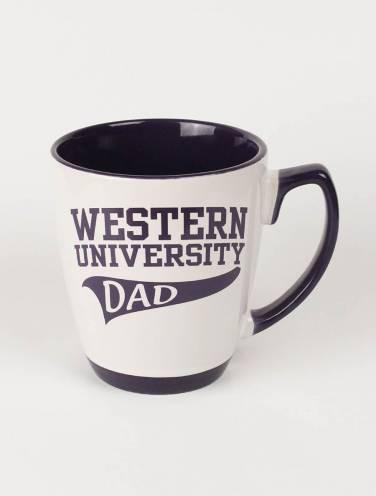 image of White Western University Dad Mug