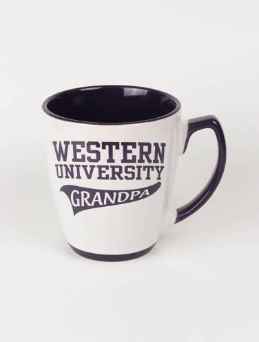 image of White Western University Grandpa Mug