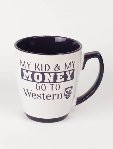 image of White My Kid & My Money Mug