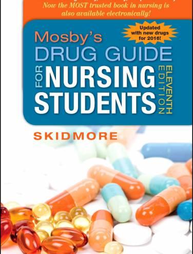 image of Mosbys Drug Guide For Nursing Students 2016 *op