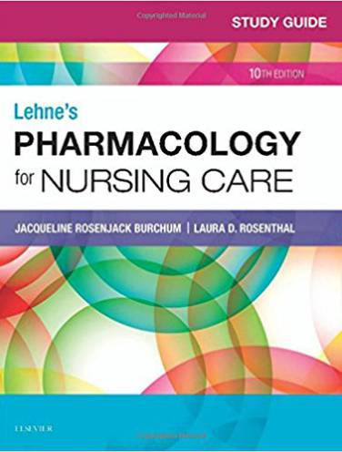 image of Lehnes Pharmacology For Nursing Care Study Guide