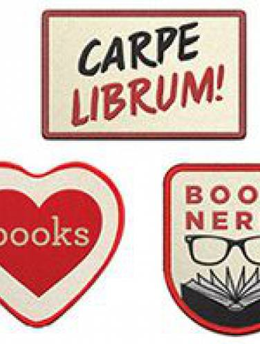 image of Book Nerd Iron-On Patches