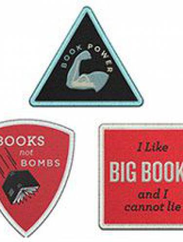image of Book Power Iron-On Patches