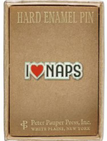 image of I Love Naps Pin