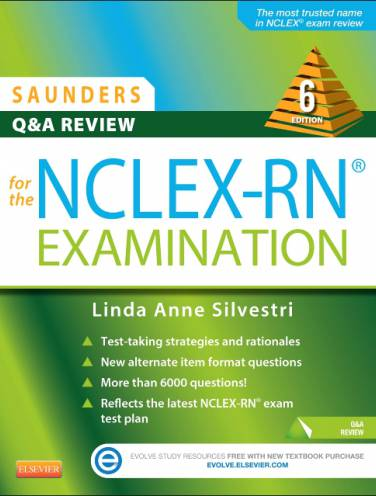 image of Saunders Q+A Review For Nclex-Rn Examination