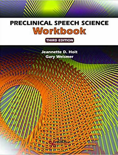 image of Preclinical Speech Science Workbook
