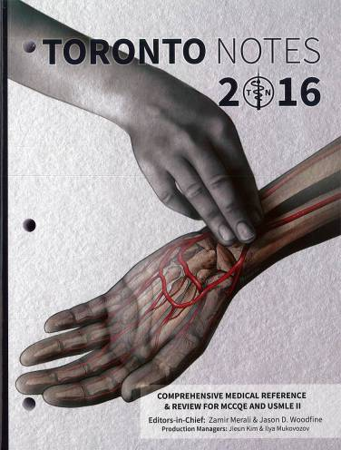 image of Toronto Notes 2016