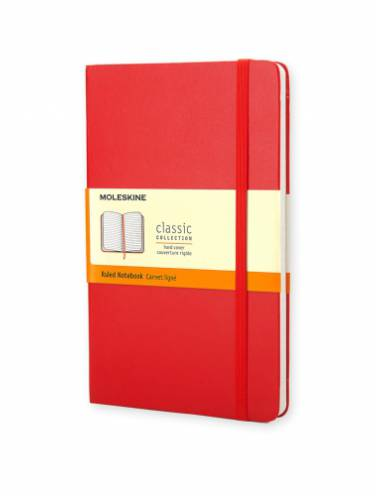 image of Ruled Red Notebook Pocket