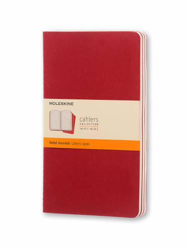 image of Cahier Large Ruled Red Set Of 3