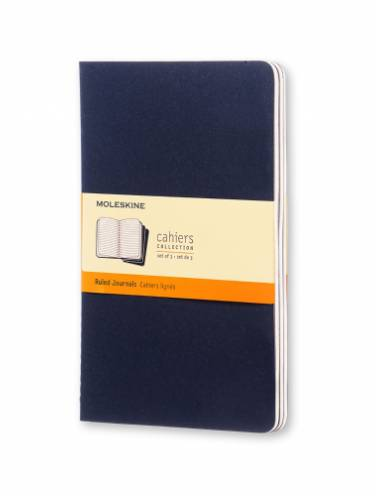 image of Cahier Ruled Large Indigo Blue  -Set Of 3