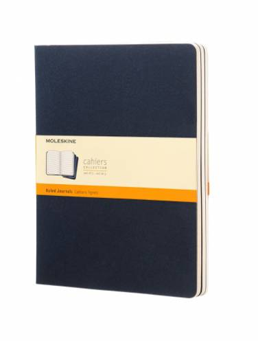 image of Cahier Extra Large Ruled Blue Set Of 3