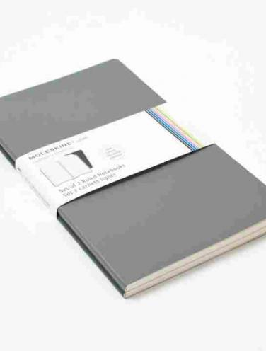 image of Volant Notebook Grey Pocket Ruled   -Set Of 2