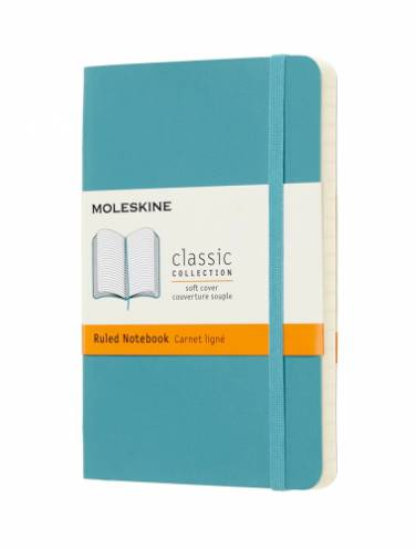image of Notebook Ruled Pocket Underwater Blue