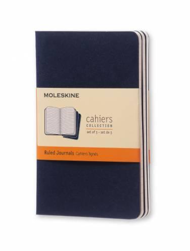 image of Cahier Ruled Pocket Indigo Blue Set Of 3