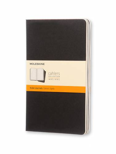 image of Cahier Ruled Large Black  -Set Of 3
