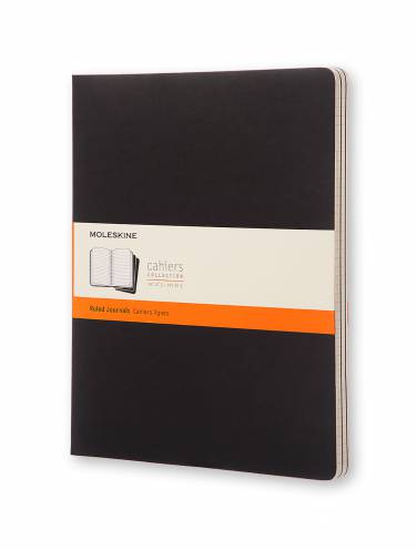 image of Black X-Large Cahier Ruled Notebooks Set Of 3