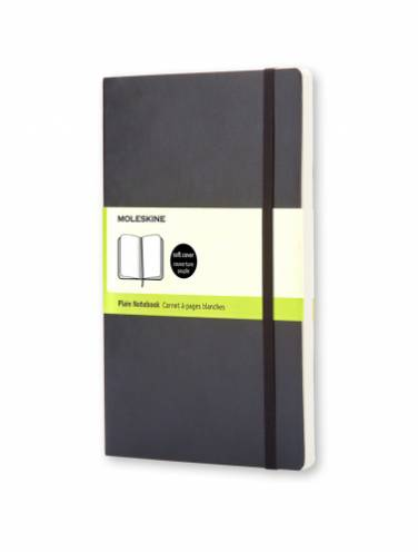 image of Notebook Plain Pocket Black