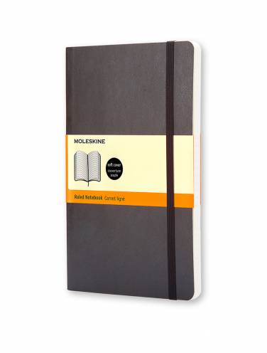 image of Black Large Ruled Notebook