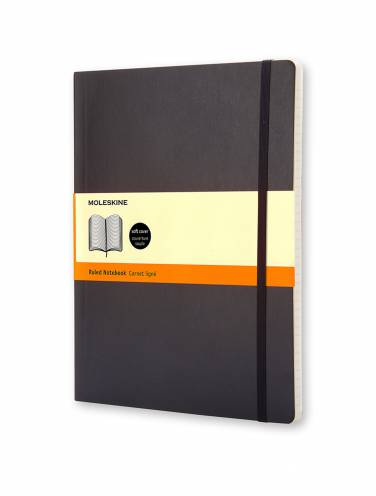 image of Black X-Large Ruled Notebook
