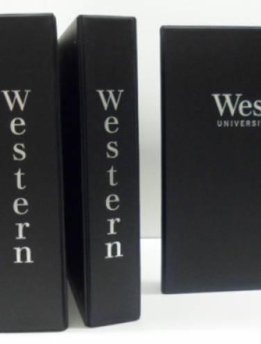 image of Western University Black Binders