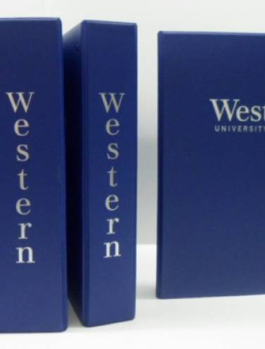 image of Western University Blue Binders