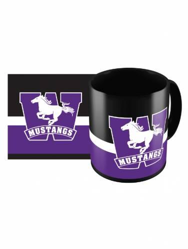 image of Black Mustangs Sublimated Mug