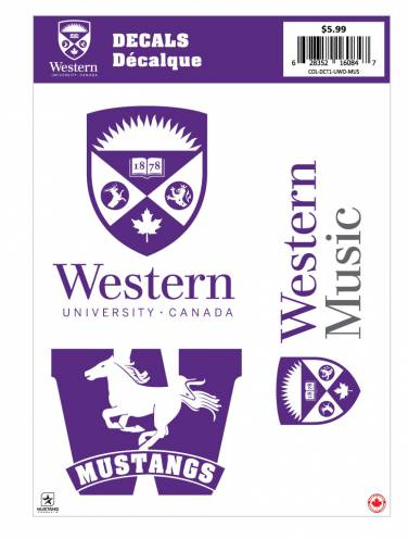 image of Western Music Decal Sheet
