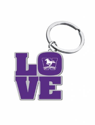 image of Purple Mustangs Love Key Chain