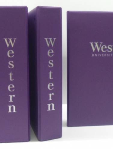 image of Western University Purple Binder