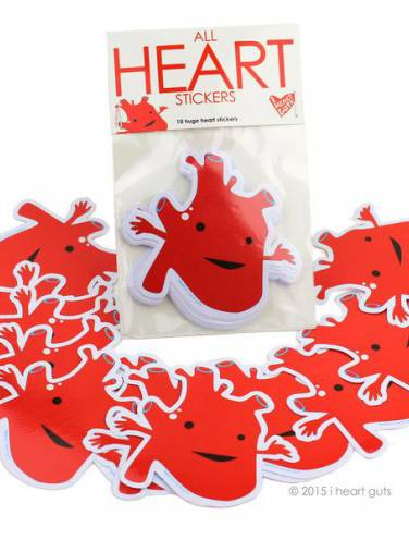 image of Heart Stickers Pack Of 10
