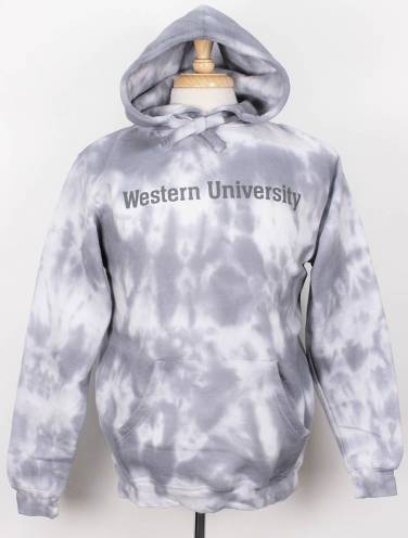 image of Grey Western University Tie Dye Hood